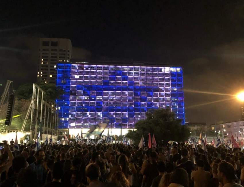 Fin de la era Netanyahu: Así se festejó en Tel Aviv el cambio de gobierno