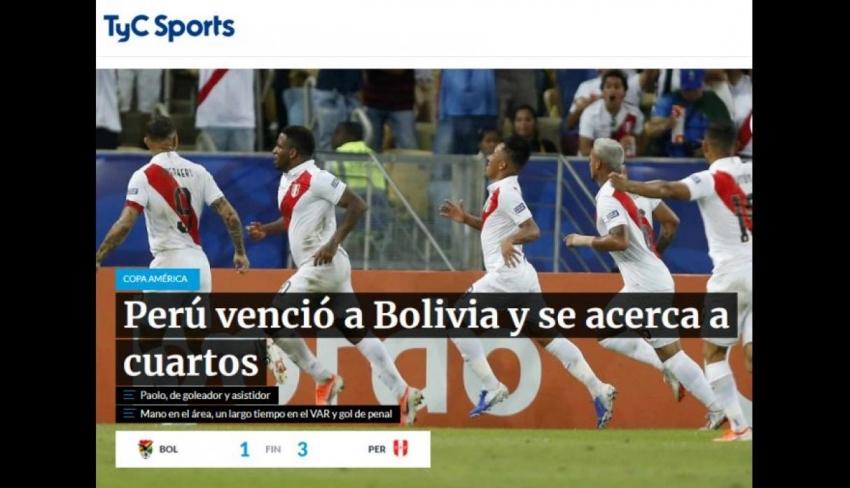 Perú vs. Bolivia: la reacción de la prensa mundial tras victoria incaica