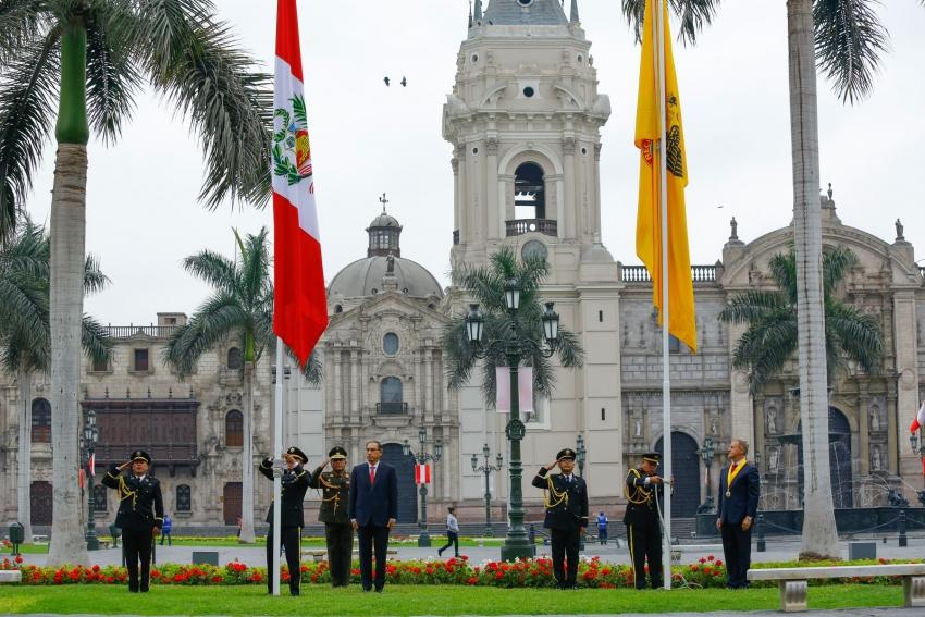 Presidente Vizcarra participó en ceremonia por 484 aniversario de Lima.