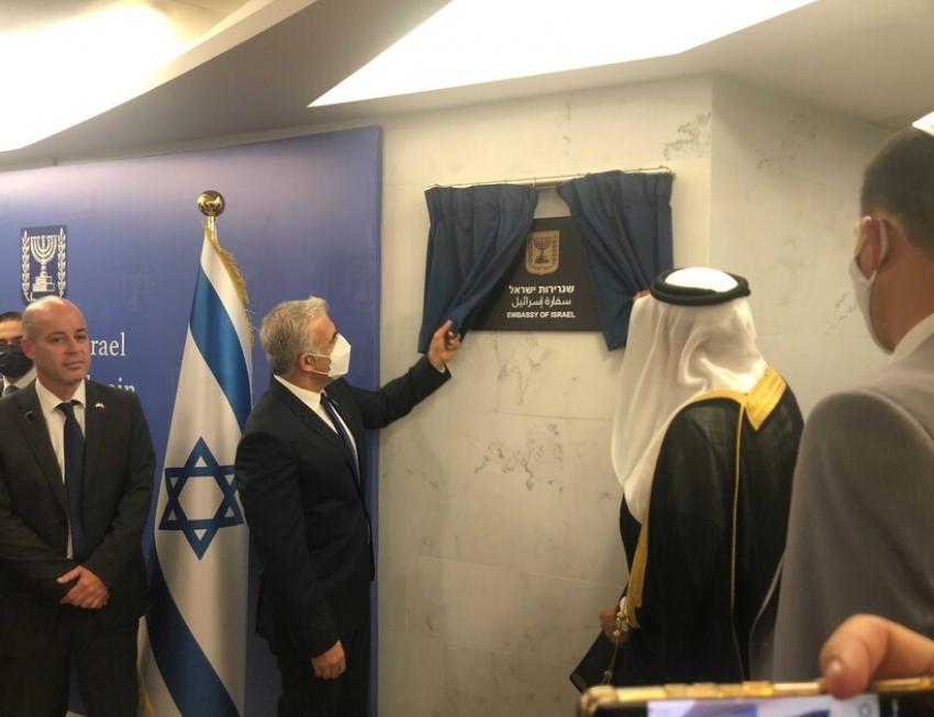 Yair Lapid inauguró oficialmente la Embajada de Israel en Bahréin